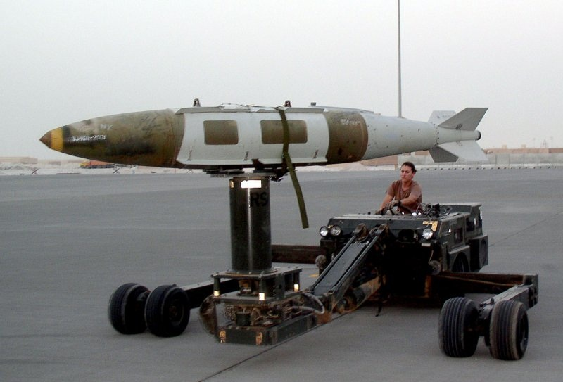 Preparing to fly JDAM