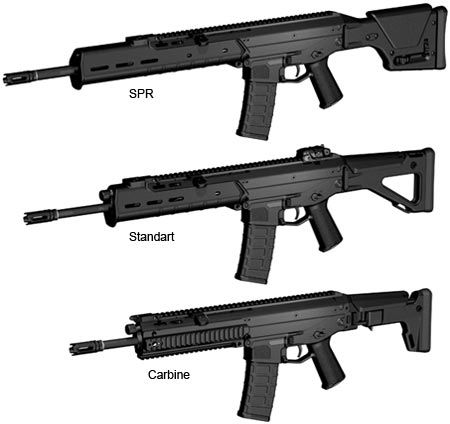 assault rifle (automatic) model magpul masada acws / bushmaster acr
