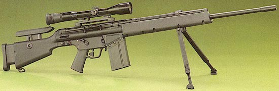 sniper rifle hk msg-90 / msg- 90A1