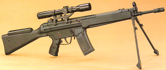 sniper rifle heckler & koch hk 33 sg1