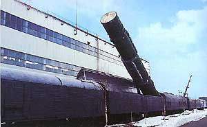 Battle railway missile system 15p961 done with 15zh61 ICBM (RT-23 UTTH)