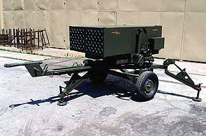 Towing light rocket launcher m93a3 heron
