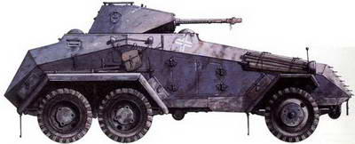 Heavy armored SDKFZ 231